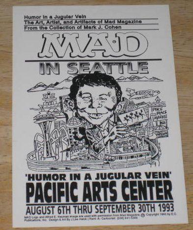 Postcard Mark Cohen 'Humor In A Jugular Vein' Seattle • USA