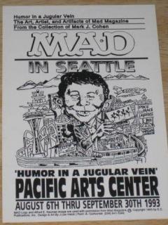Go to Postcard Mark Cohen 'Humor In A Jugular Vein' Seattle