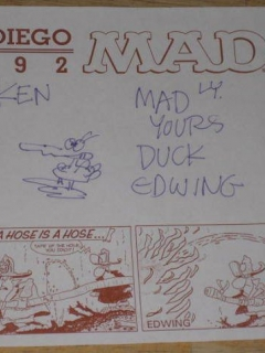 Autographed Sheet Don Edwing San Diego Comic Con  • USA