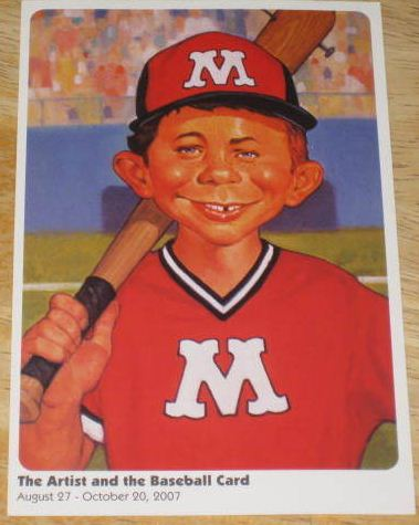 Postcard promotional alfred e neuman baseball art • usa click to enlarge