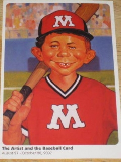 Go to Postcard Promotional Alfred E. Neuman Baseball Art • USA