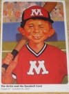 Image of Postcard Promotional Alfred E. Neuman Baseball Art