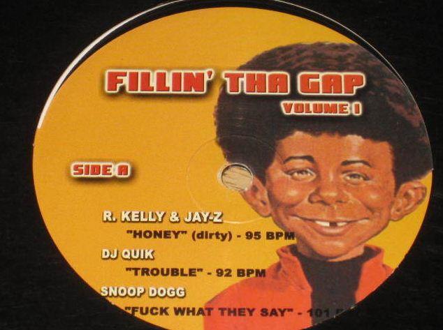 Record Fillin' The Gap DJ Album w/ Alfred E Neuman R. Kelly Snoop Dog Jay-Z • USA