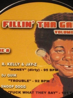 Go to Record Fillin' The Gap DJ Album w/ Alfred E Neuman R. Kelly Snoop Dog Jay-Z • USA