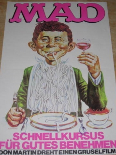 Go to Poster 1970's MAD Magazine Alfred E. Neuman Promotional • Germany