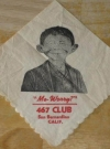Image of Cocktail Napkin Pre-MAD Alfred E. Neuman 467 Club San Bernadino