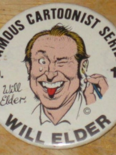 Go to Pinback Button 1975 Famous Cartoonist Series #17 Will Elder