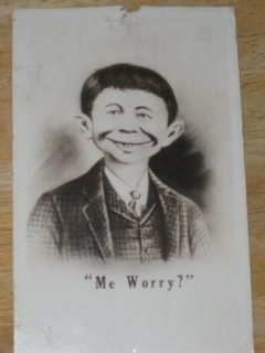 Go to Postcard Pre-MAD Alfred E. Neuman, October 20, 1942 Glossy • USA