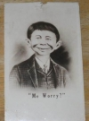 Image of Postcard Pre-MAD Alfred E. Neuman, October 20, 1942 Glossy