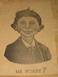 Go to Poster Pre-MAD Alfred E. Neuman 'Me Worry?'