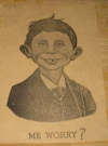 Image of Poster Pre-MAD Alfred E. Neuman 'Me Worry?'