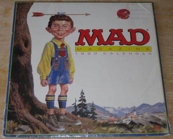 1990 Calendar MAD Magazine • USA