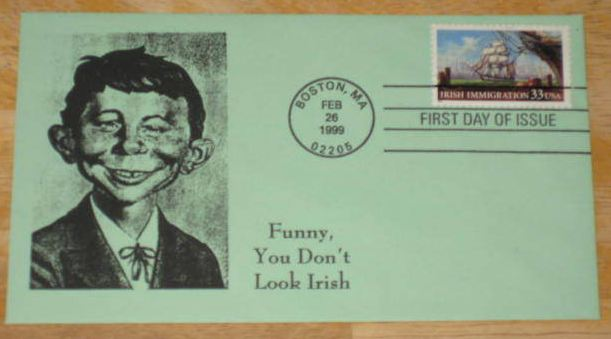 Envelope Alfred E. Neuman First Day Cover FDC Stamp • USA