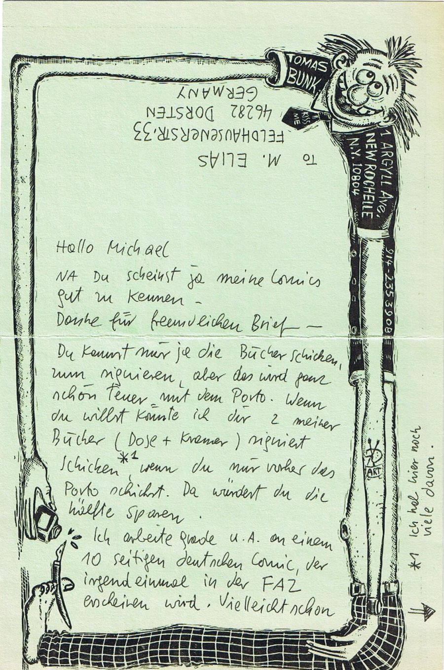 Letter from Tom Bunk • Germany