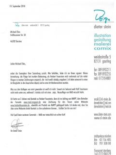 Go to Letter from Dieter Stein