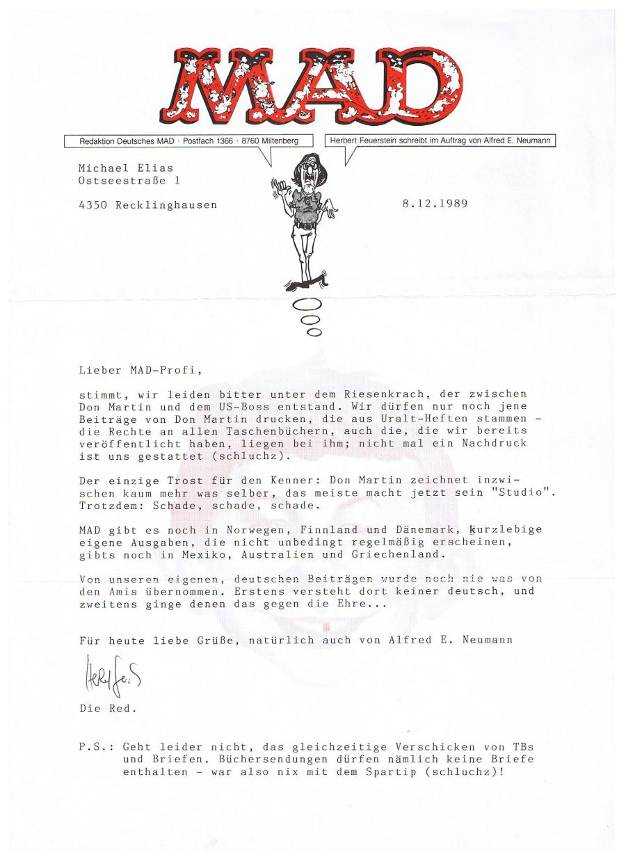 Letter (German MAD Office) #4 • Germany