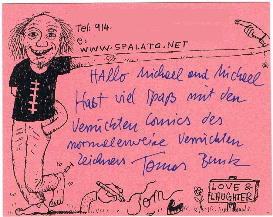 Written Note by Tom Bunk • Germany