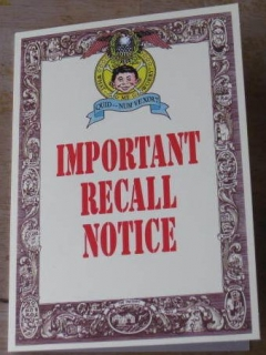 Go to Greeting Card Gibson Greetings Important Recall Notice