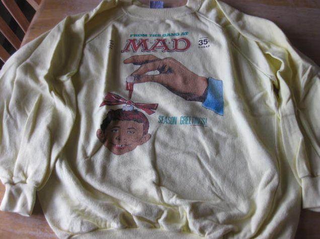 Sweatshirt Alfred E. Neuman Christmas Sun Sportswear • USA