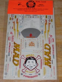 Go to Decal Sheet Model Kit MAD Magazine • USA
