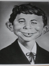 Photo Picture Alfred E. Neuman Promotional b/w