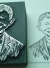Image of Letterpress Printers Block Alfred E. Neuman