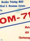 Image of Postcard Radio Ad for KOM-7169
