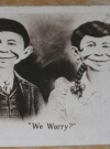 Image of Postcard Alfred E. Neuman w/ Sister MOXIE We Worry!