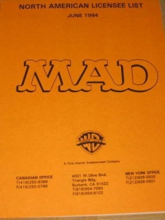 Go to Licensee List from MAD Magazine • USA