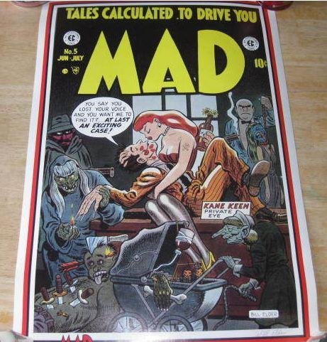 Poster Will Elder Signed Print Stabur Graphics MAD Comic #5 • USA