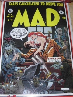 Poster Will Elder Signed Print Stabur Graphics MAD Comic #5 • USA