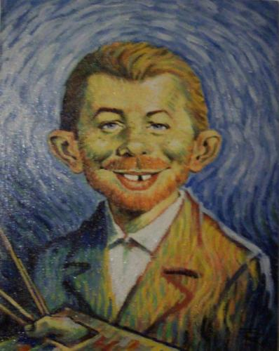 Painting Alfred E. Neuman as Vincent van Gogh • Germany