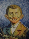 Painting Alfred E. Neuman as Vincent van Gogh