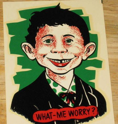 Water Decal with Original Wax Sleeve Alfred E. Neuman • USA