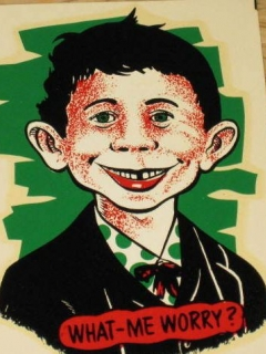 Go to Water Decal with Original Wax Sleeve Alfred E. Neuman