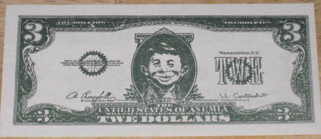 Two Dollar $3 Bill Promotional Giveaway • USA