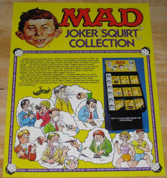 Squirt Toys MAD Full Color Sell Sheet Imagineering • USA