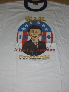Go to T-Shirt 'Alfred E. Neuman' For President Blue Trim • USA