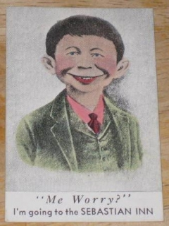 Go to Trade Card Pre-MAD Alfred E. Neuman Small Sebastian Inn Me Worry? • USA