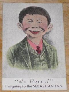 Go to Trade Card Pre-MAD Alfred E. Neuman Small Sebastian Inn Me Worry?