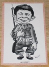 Image of Postcard Alfred E. Neuman G.I. Soldier Pink Border