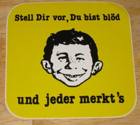Sticker Alfred E. Neuman Display yellow • Germany