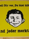 Image of Sticker Alfred E. Neuman Display yellow