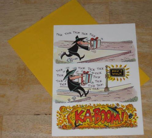 Greeting Card w/ Envelope MAD Magazine Gibson Spy vs. Spy Crosswalk • USA
