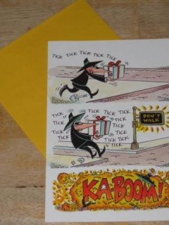 Go to Greeting Card w/ Envelope MAD Magazine Gibson Spy vs. Spy Crosswalk