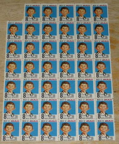Stamp Sheet with Alfred E. Neuman • Netherlands