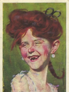 Go to Postcard Alfred E. Neuman Female Look-A-Like • USA