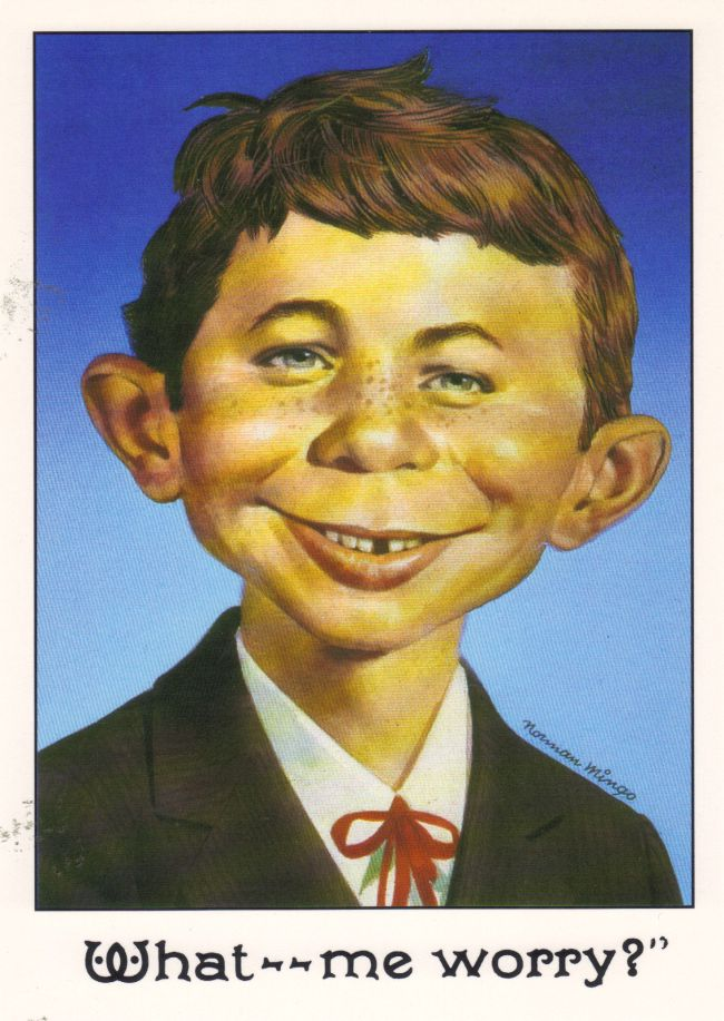 Greeting Card with Envelope Alfred E. Neuman Face • USA