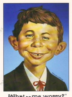 Go to Greeting Card with Envelope Alfred E. Neuman Face
