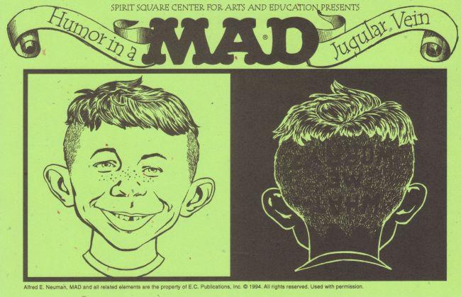 Invitation Card Mark J. Cohens Humor in Jugular Vein • USA